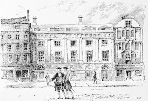 The old East India House, drawn from an old print by Herbert Railton