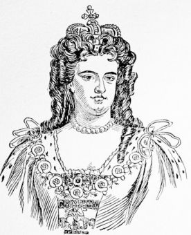 Queen Anne, from the painting by Kneller