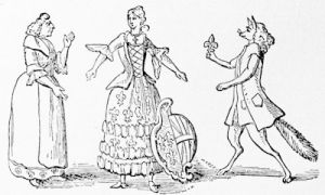 \'England Made Odious, or the French Dressers\', a caricature on Shelburne and Fox at the time of the arrangement of the Treaty of Versailles