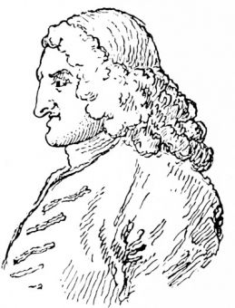 Henry Fielding, by Hogarth, from the 1772 edition of Fielding\'s \'Works\'