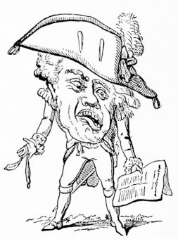 \'The greatest general of the age - General Complaint\', from a caricature of 1796 by woodward