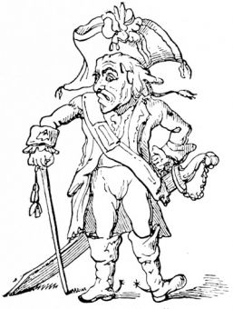 \'A model officer\', from Rowland\'s caricature, 1796