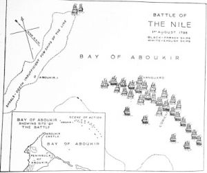 The Battle of the Nile in Aboukir Bay, August 1, 1798