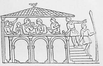 Normans at Dinner, from the Bayeux Tapestry