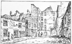 Cato Street, the scene of the conspiracy of 1820, from a contemporary drawing