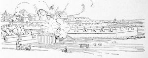 Bombay Fort in the early 19th century, from a drawing by William Westall, A.R.A.