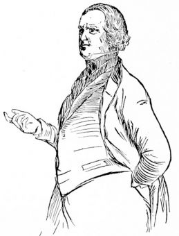 Sir Robert Peel, moving the repeal of the Corn Laws, January, 1846, from a sketch made in the House of Commons
