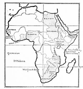 British Possessions in Africa, 1903