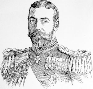 King George V, after a photograph by Lafayette, Dublin
