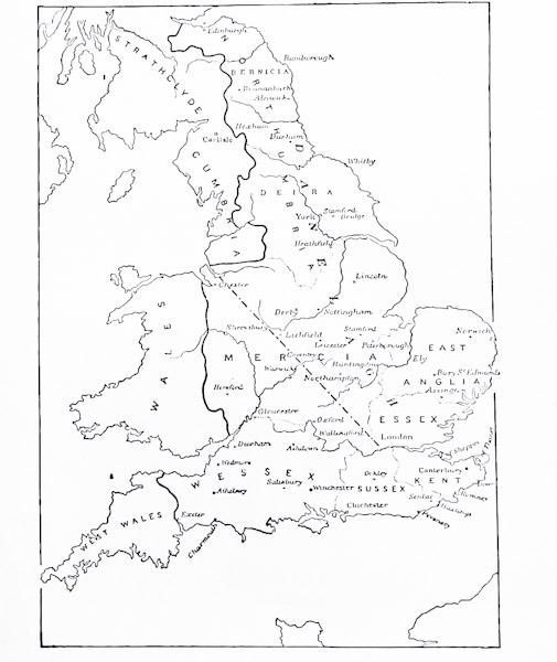 Anglo Saxon Map Of England.Anglo Saxon Kingdoms