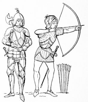 English man-at-arms and archer