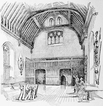 Penshurst, the hall of a 14h century Baron, built about 1340