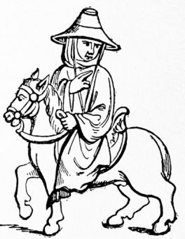 An abbot travelling