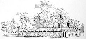 A 13th century caricature upon the Jews of Norwich, from the Jew\'s Roll in the Public Record Office