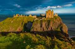 Dunnottar Castle in late evening light