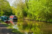 Narrowboats on the Stratford Canal