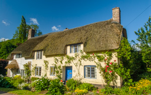 Thatched cottasge, Dunster, Somerset