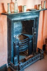 Victorian fireplace upstairs