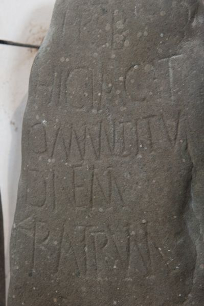 Aberdaron, St Hywyn's Church photo, Seneca carved stone