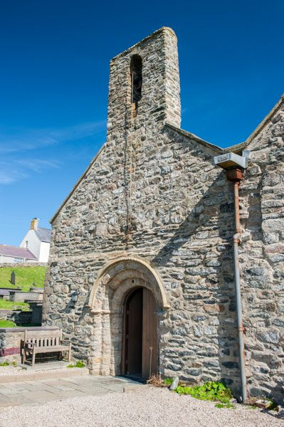 Aberdaron, St Hywyn's Church photo, The Norman west entrance