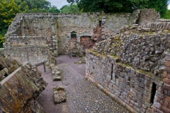 Ruined passageway in the castle