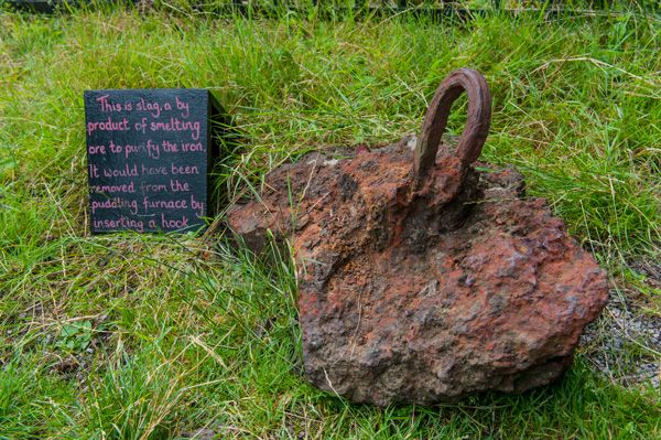 Aberdulais Tin Mine and Waterfall photo, A piece of iron slag from smelting