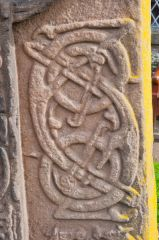 Aberlemno Sculptured Stones, Churchyard cross-slab carving detail