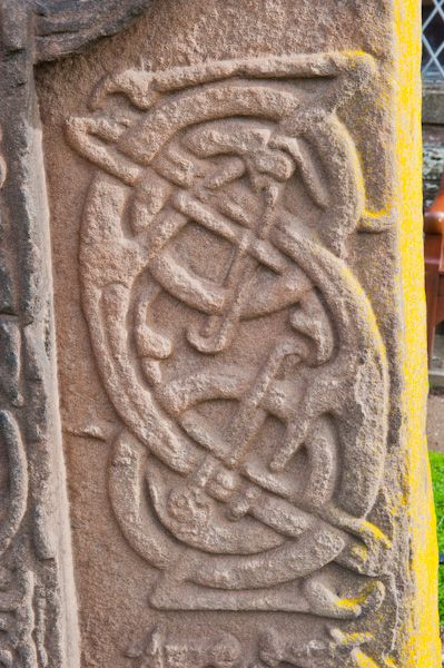 Aberlemno Sculptured Stones photo, Churchyard cross-slab carving detail