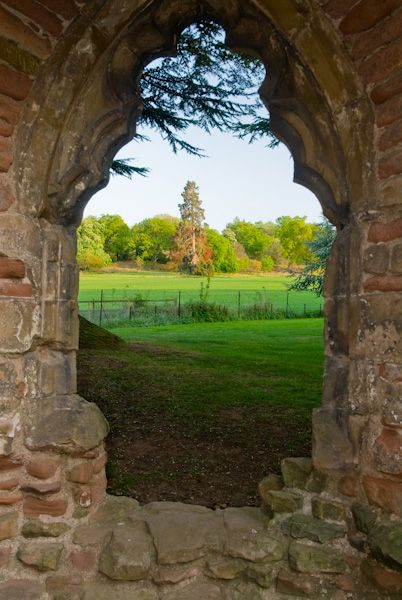 Acton Burnell Castle photo, Window view 2