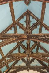 Adlestrop, St Mary Magdalene, The ornate roof beams