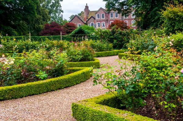 Adlington Hall photo, The formal gardens