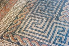 Aldborough Roman Site, Geometric pattern of mosaic floor
