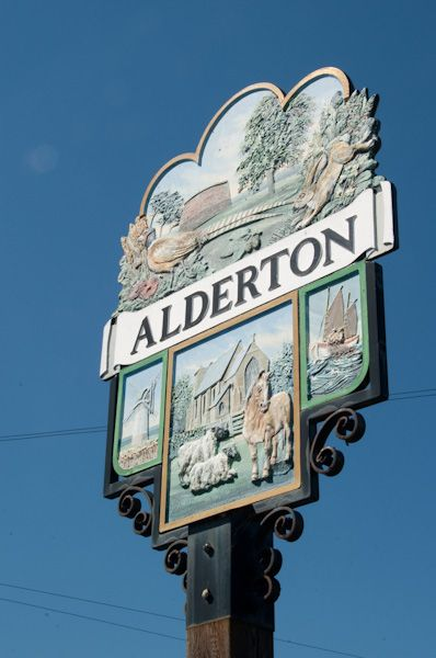 Alderton photo, Village sign
