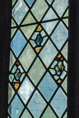 Alderton, St Margaret's Church, Small fragments of medieval glass