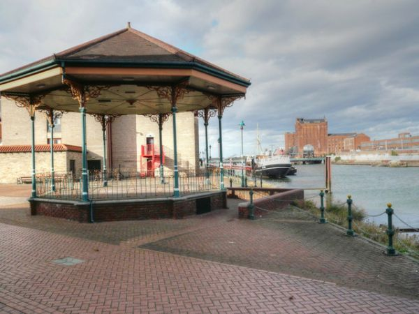 Grimsby photo, Bandstand on Alexandra Docks (c) John Blakeston