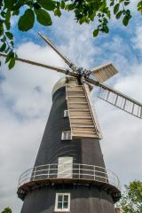 Alford Five Sailed Windmill, Another view of the mill exterior