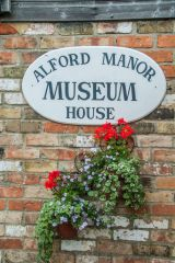 Alford Manor House Museum, The museum entrance sign