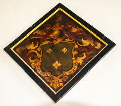 Alfriston, St Andrew's Church, 1733 Vincent funeral hatchment