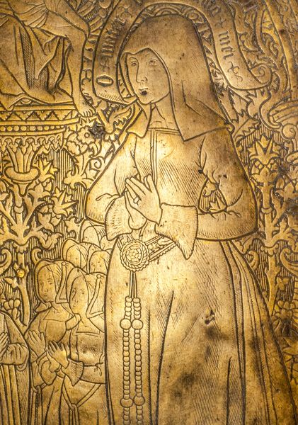 All Hallows-by-the-Tower photo, Evyngar memorial brass, 1533