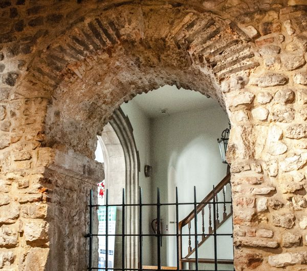 All Hallows-by-the-Tower photo, The Saxon archway
