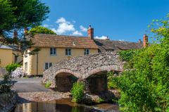 Allerford, The 'other' side of the packhorse bridge