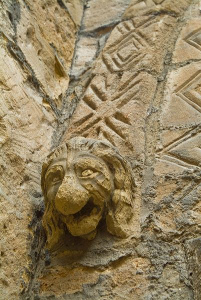 Alnwick Castle photo, Carved head