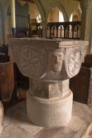 Altarnun, St Nonna's Church, Norman font