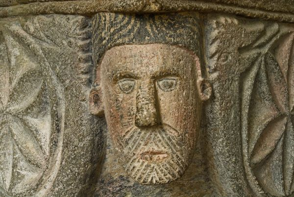 Altarnun, St Nonna's Church photo, Bearded face