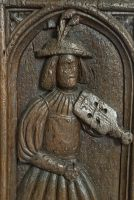 Altarnun, St Nonna's Church, Fiddle player carving