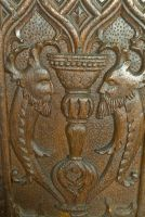 Bench end carving 2