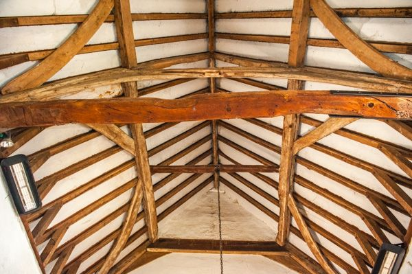 Alton Barnes, St Mary's Church photo, The 16th century timber roof