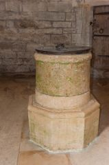 Ampney Crucis, Holy Rood Church, Norman font