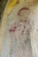 Medieval wall painting, north transept