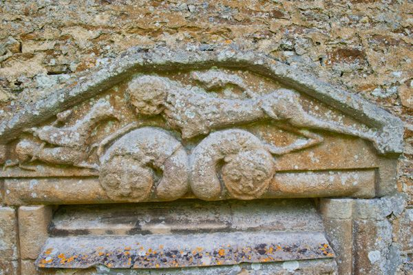Ampney St Mary Church photo, Norman tympanum